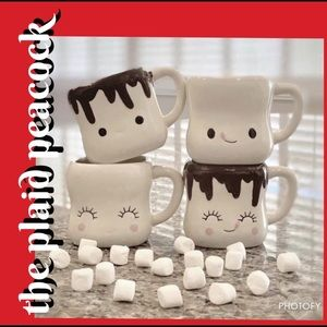 >Authentic 180D< Marshmallow Mug Set w/ Handles